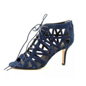 Pour La Victoire Charlize Lace-Up Sandal blue 8